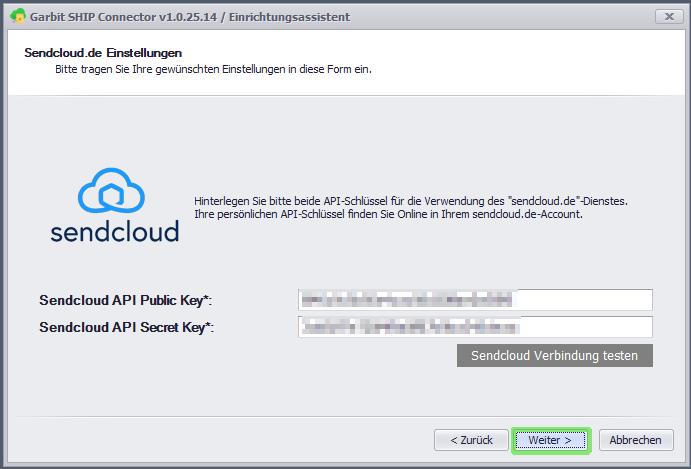 Sendcloud API-Schlüssel
